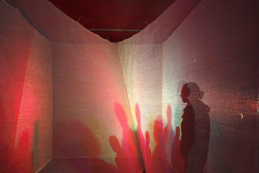 Licht-Installation von Hanno Kautz im Rahmen der ORF-Langen Nacht der Museen im Lendhafen